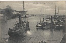 Carte Postale Ancienne De Lorient Départ Du Bateau De Groix - Lorient