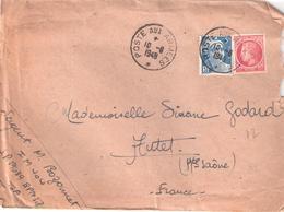 5 F.Gandon + 1f.Mazelin Oblitéré POSTE AUX ARMEES De B.P.M.518 Pour AUTET - Cachets Militaires A Partir De 1900 (hors Guerres)