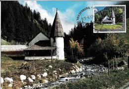 Liechtenstein 2017: Kapelle Im Steg -  Offizielle Marke Der FL-Post Auf Bild-PK Mit O TRIESENBERG 21.6.17 (RAR) - Cartes-Maximum (CM)