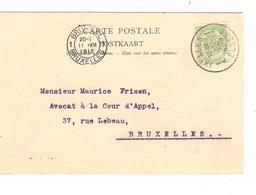 PR6357/ TP 83 Armoiries Perforé B.O. S/CP Publicitaire Banque D'Outremer C.Ixelles 1912 V.BXL C.d'arrivée - Perfins