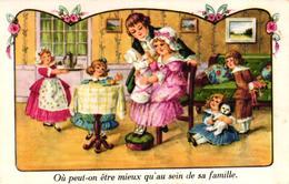 CPA FANTAISIE - OU PEUT ON ETRE MIEUX QU'AU SEIN DE SA FAMILLE - Autres