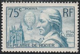 Année 1936 - N° 313 - 150ème Anniv. De La Mort De L'aéronaute François Pilâtre De Rozier - Neuf - Cote : 45 € - Unused Stamps