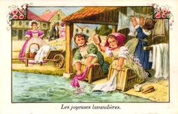CPA FANTAISIE - LES JOYEUSES LAVANDIERES - Autres