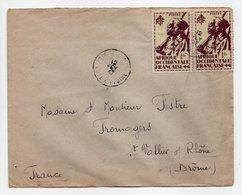 - Lettre ABIDJAN (Côte D'Ivoire) Pour SAINT-VALLIER-SUR-RHÔNE (Drôme) 12.2.1947 - Bel Affranchissement Philatélique - - A.O.F. (1934-1959)