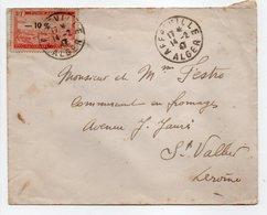 - Lettre AFFREVILLE (Algérie) Pour SAINT-VALLIER (Drôme) 14.2.1947 - Bel Affranchissement Philatélique - - Algérie (1924-1962)