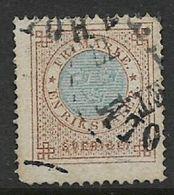 Sweden, 1872, 1 R, Blue + Bistre, Perf 14 Used, - Oblitérés