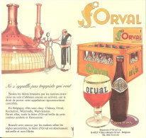 Publicité Orval-2 Feuillets Publicitaires (Abbaye,bière,Trappiste,...) Pub. Des Années 1970 -Ed.par La Brasserie D'Orval - Autres Collections