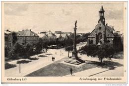 Allemagne. Oldenburg. Friedensplatz Mit Friedenssaule - Oldenburg