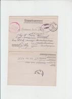 MILITARIA - COURRIER VERS GENAPPE  - DU STALAG 3 + GEPRUFT- 1942 - 1939-45