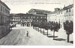 ITALIA - CERVIGNANO NEL FRIULI - Piazza V. Emanuele, Animata, Viag. Busta 1917 - 2019-373 - Udine
