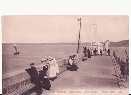 CARTOLINA D'EPOCA JERSEY - ISOLE DEL CANALE - SAINT HELIER - VICTORIA JETTY LL. N. 35 - ANIMATA - Jersey