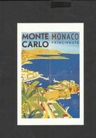Nostalgia Postcard   Monte Carlo-Monaco Principaute 1920's - Monte-Carlo