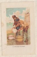9AL635 CHROMO THIERY &SIGRAND VETEMENTS METIERS Nettoyage Du Poisson  2 SCANS - Sonstige