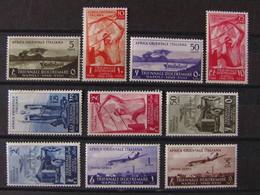 """ITALIA Colonie Africa Orientale -1940- """"Triennale"""" 11 Val. MH* (descrizione) - Africa Oriental Italiana"""