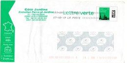 Enveloppe PAP Pret à Poster  Lettre Verte 20g France En-tête Coté Jardins 161706 - Entiers Postaux