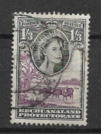 BECHUANALAND  1955 -1958 Queen Elizabeth II  USED Landscape Cows - Bechuanaland (...-1966)