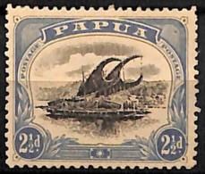 [829593]Papouasie 1908 - N° 36B, 2p1/2 Outremer, Perf 12 1/2, Fil Couché, Lakatoi Sur La Rivière Mambara, Bateau - Papouasie-Nouvelle-Guinée