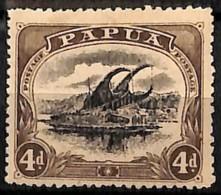 [829597]Papouasie 1910 - N° 44, 4p Brun, Lakatoi Sur La Rivière Mambara, Bateau - Papouasie-Nouvelle-Guinée
