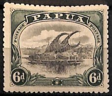 [829598]Papouasie 1910 - N° 45, 6p Vert Et Noir, Lakatoi Sur La Rivière Mambara, Bateau - Papua New Guinea