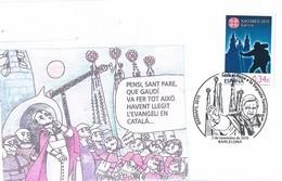 29584. Carta BARCELONA 2010. Sagrada Familia, Gaudi. Visita PAPA, Barnafil 2010 - 1931-Hoy: 2ª República - ... Juan Carlos I