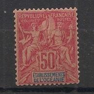 Océanie - 1892 - N°Yv. 11 - Groupe 50c Rose - Neuf Luxe ** / MNH / Postfrisch - Ozeanien (1892-1958)