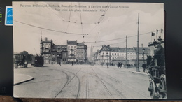 MOLENBEEK ST JEAN BRUXELLES MARITIME- PLACE SAINCTELETTE 1914 - TRAMWAY ATTELAGE -ANIMEE RARE EDIT VANDER CAMP - Molenbeek-St-Jean - St-Jans-Molenbeek