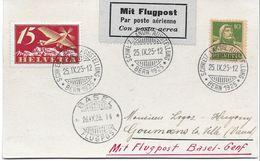 Schweiz Suisse 1925: SCHWEIZ.LANDW.AUSSTELLUNG  BERN 25.IX.25 > BASEL > GOUMENS-LA-VILLE  Mit Zu F3 Mi 179 - Agriculture
