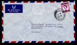 A5947) UK Bahrain Bankbrief 12.08.57 N. Germany - Bahrein (...-1965)