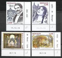 Monaco 2019 - Yv N° 3176 - 3177 - 3178 - 3179 ** - Le Nu Dans L'Art & Les Chanteurs D'Opéra - Neufs