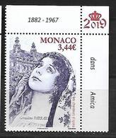 Monaco 2019 - Yv N° 3177 ** - Les Chanteurs D'Opéra (Géraldine Farrar) - Monaco