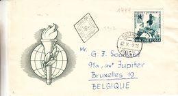 Espéranto - Hongrie - Lettre De 1962 - Oblit Budapestcarte D'europe - Feux  - Congrès - Esperanto