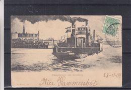 Danemark - Carte Postale De 1904 - Oblit Kjobenhavn - Exp Vers Chartres - Vue Bateau à Vapeur - 1864-04 (Christian IX)