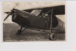 Vintage Rppc KLM K.L.M Royal Dutch Airlines Koolhoven F.K.43 Aircraft @ Schiphol Airport - 1919-1938: Between Wars