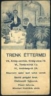 SZÁMOLÓ CÉDULA  Régi Reklám Grafika , Trenk Éttermei  /  Vintage Adv. Graphics BAR TAB, Trenk's Restaurants - Alte Papiere