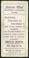 SZÁMOLÓ CÉDULA  Régi Reklám Grafika , Budakeszi , Ruzsicska Otthon, Szálloda, étterem  /  Vintage Adv. Graphics BAR TAB, - Alte Papiere