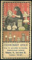 SZÁMOLÓ CÉDULA  Régi Reklám Grafika , Echkenásy üveg és Porcellán  /  Vintage Adv. Graphics BAR TAB, Echkenásy Glass And - Alte Papiere