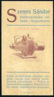 SZÁMOLÓ CÉDULA  Régi Reklám Grafika , Nagyvárad, Szenes Sándor  /  Vintage Adv. Graphics BAR TAB, Nagyvárad, Sándor Szen - Alte Papiere