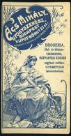 SZÁMOLÓ CÉDULA 1910-20. Cca. Régi Reklám Grafika , Ács Mihály Gyógyszerész  /  Vintage Adv. Graphics BAR TAB Ca 1910-20  - Alte Papiere