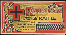 SZÁMOLÓ CÉDULA 1910-20. Cca. Régi Reklám Grafika , Rothes Kreuz Kaffe (budapesti Kiadás)  /  Vintage Adv. Graphics BAR T - Alte Papiere