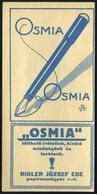 SZÁMOLÓ CÉDULA 1910-20. Cca. Régi Reklám Grafika , Osmia, Rigler  /  Vintage Adv. Graphics BAR TAB Ca 1910-20 - Alte Papiere