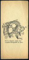"""SZÁMOLÓ CÉDULA 1910-20. Cca. Régi Reklám Grafika , """"Kávépotlék Az UHU""""  /  Vintage Adv. Graphics BAR TAB Ca 1910-20 UHU  - Alte Papiere"""