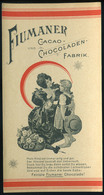 SZÁMOLÓ CÉDULA 1910-20. Cca. Régi Reklám Grafika , Fiumaner Cacao Chocoladen  /  Vintage Adv. Graphics BAR TAB Ca 1910-2 - Alte Papiere