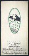 SZÁMOLÓ CÉDULA 1910-20. Cca. Régi Reklám Grafika  Bátori, Bélyeg üzlet!  /  Vintage Adv. Graphics BAR TAB Ca 1910-20 Sta - Gebraucht