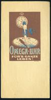 SZÁMOLÓ CÉDULA 1910-20. Cca. Régi Reklám Grafika , óra,  Omega - Uhr  /  Vintage Adv. Graphics BAR TAB Ca 1910-20 Watch - Alte Papiere