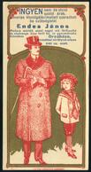 SZÁMOLÓ CÉDULA 1910-20. Cca. Orosháza, Endres János  /  Vintage Adv. Graphics BAR TAB Ca 1910-20 - Alte Papiere