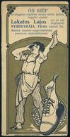 SZÁMOLÓ CÉDULA 1910-20. Cca. Nyíregyháza, Lakatos Lajos Cipész  /  Vintage Adv. Graphics BAR TAB Ca 1910-20 Shoe Maker - Alte Papiere