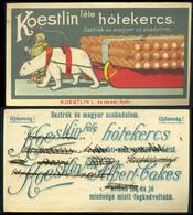 SZÁMOLÓ CÉDULA 1910-20. Cca. Győr , Koestlin Féle Hótekercs  /  Vintage Adv. Graphics BAR TAB Ca 1910-20 Sweet Roll - Alte Papiere