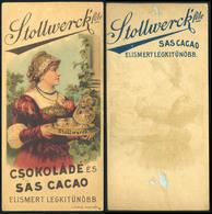 SZÁMOLÓ CÉDULA 1910-20. Cca. Stollwerk Csokoládé és Sas Cacao  /  Vintage Adv. Graphics BAR TAB Ca 1910-20 Chocolate And - Alte Papiere