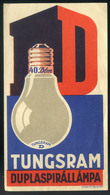 SZÁMOLÓ CÉDULA 1910-20. Cca. Tungsram  /  Vintage Adv. Graphics BAR TAB Ca 1910-20 - Alte Papiere