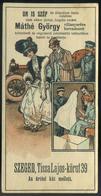 SZÁMOLÓ CÉDULA , Régi Reklám Grafika , Szeged, Máthé György  /  Vintage Adv. Graphics BAR TAB, Szeged, György Máthé - Alte Papiere